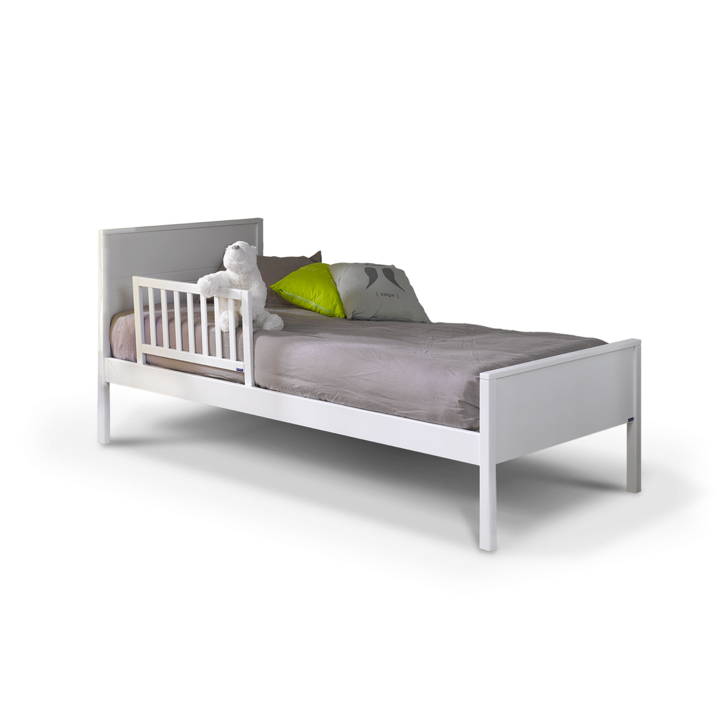 Barri re de lit enfant 70 cm blanc idkid 39 s - Barriere protection lit enfant ...