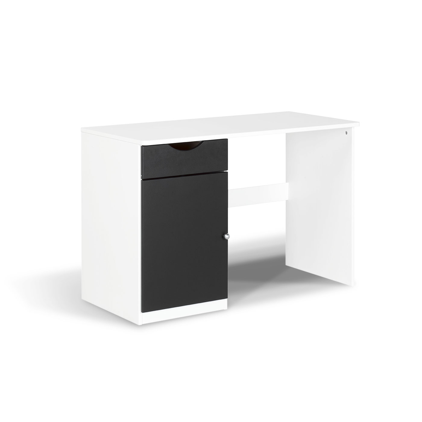 bureau enfant en pin massif wood blanc idkid 39 s. Black Bedroom Furniture Sets. Home Design Ideas