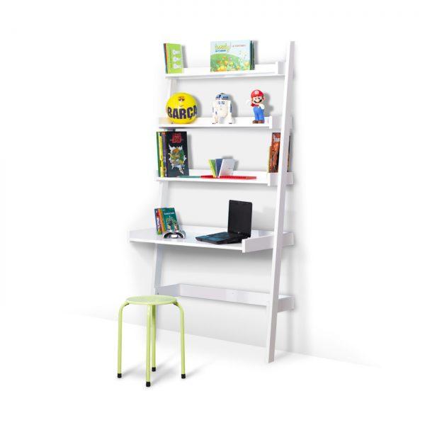 bureau-étagère-enfant-coloris-blanc-idkids