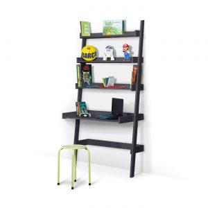 bureau-étagère-enfant-coloris-gris-anthracite-idkids