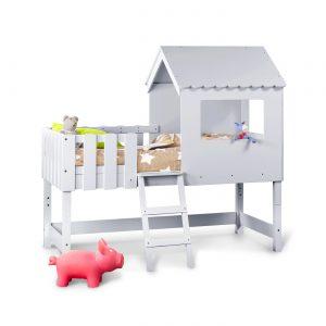lit cabane-enfant-évolutif-coloris-gris-idkids