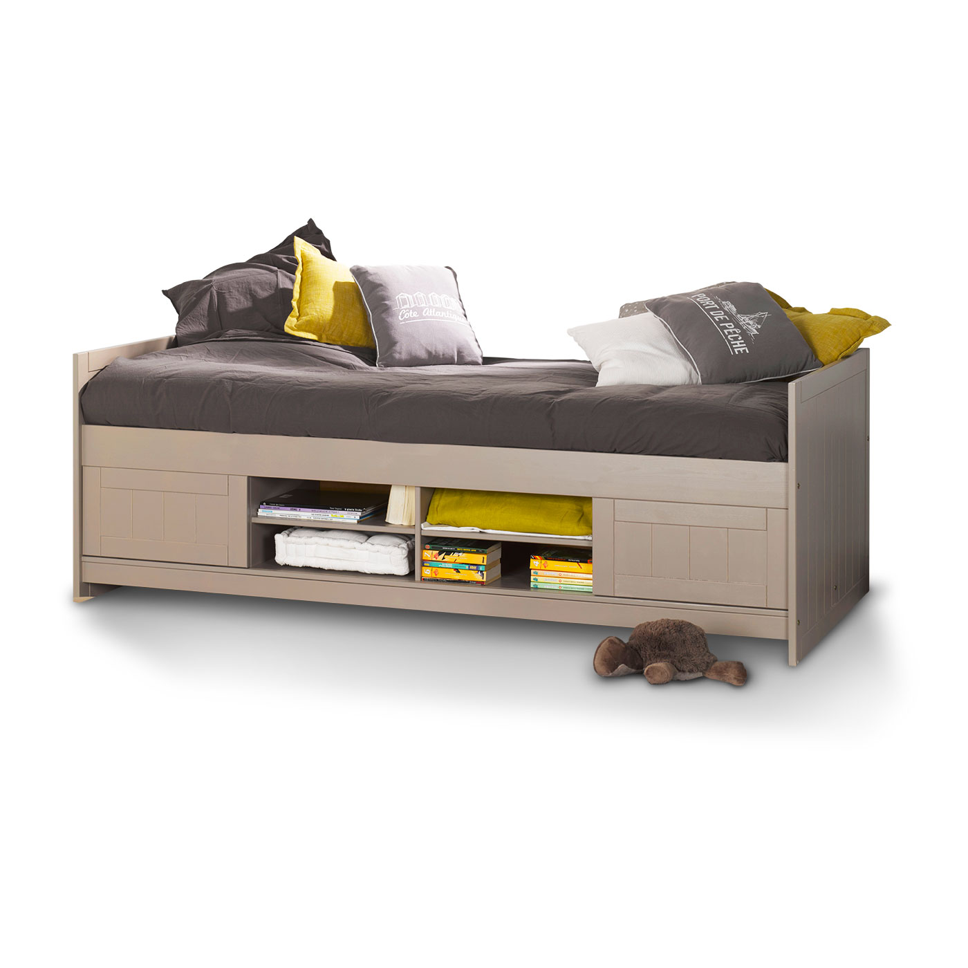 lit junior avec rangements teddy lin idkid 39 s. Black Bedroom Furniture Sets. Home Design Ideas
