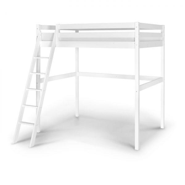 Lit mezzanine 140 wood blanc idkid 39 s - Lit mezzanine en 140 ...