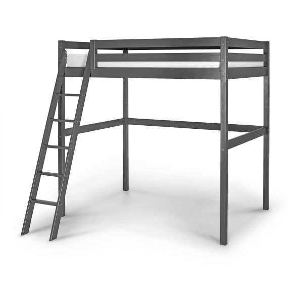 lit mezzanine 140 wood gris anthracite idkid 39 s. Black Bedroom Furniture Sets. Home Design Ideas