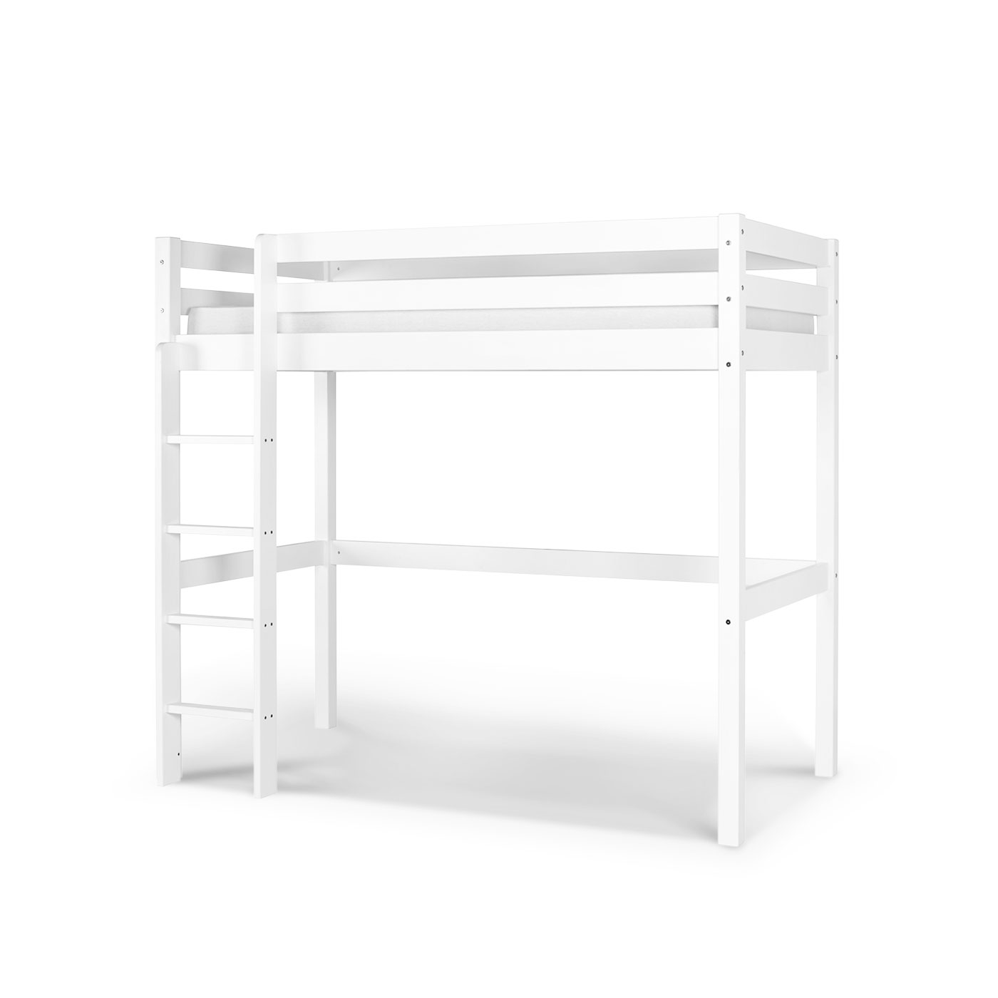 lit mezzanine enfant wood blanc idkid 39 s. Black Bedroom Furniture Sets. Home Design Ideas