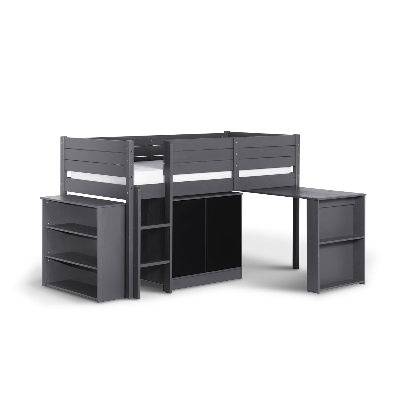 set complet pour enfant paraiso gris anthracite idkid 39 s. Black Bedroom Furniture Sets. Home Design Ideas