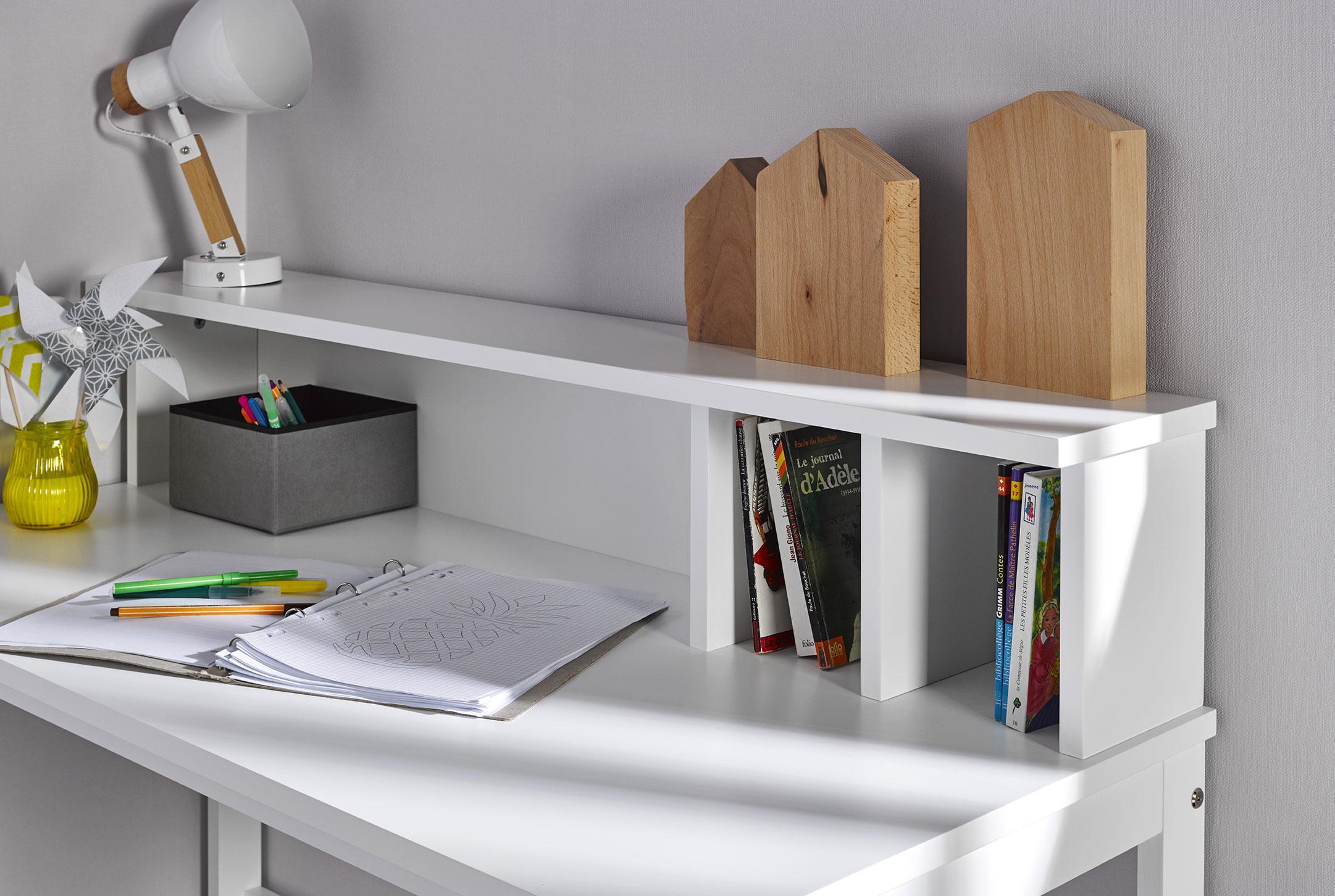 Bureau enfant design blanc idkid 39 s for Bureau blanc rangement