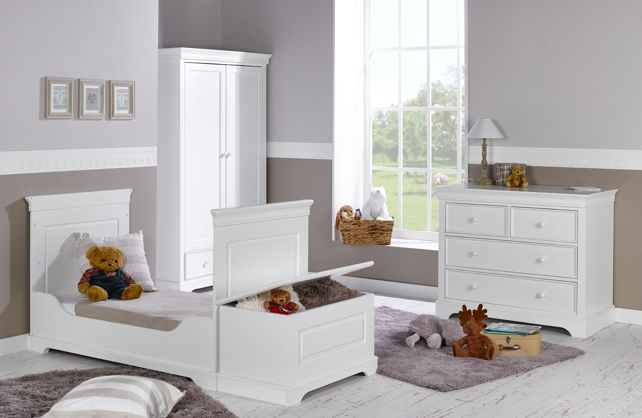 beautiful with chambre fille style romantique. Black Bedroom Furniture Sets. Home Design Ideas