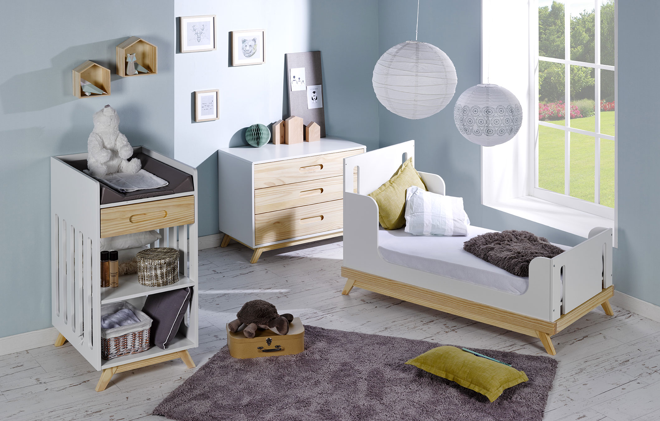 Good with chambre bebe design scandinave for Idee deco slaapkamer baby meisje