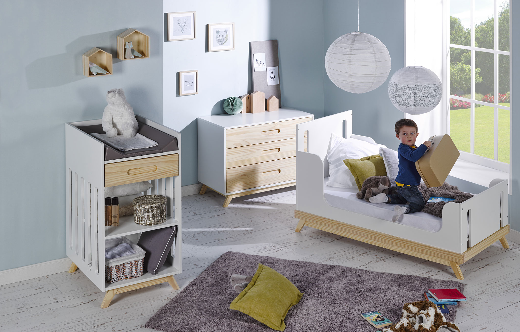 Commode enfant style scandinave nino idkid 39 s - Chambre style scandinave ...