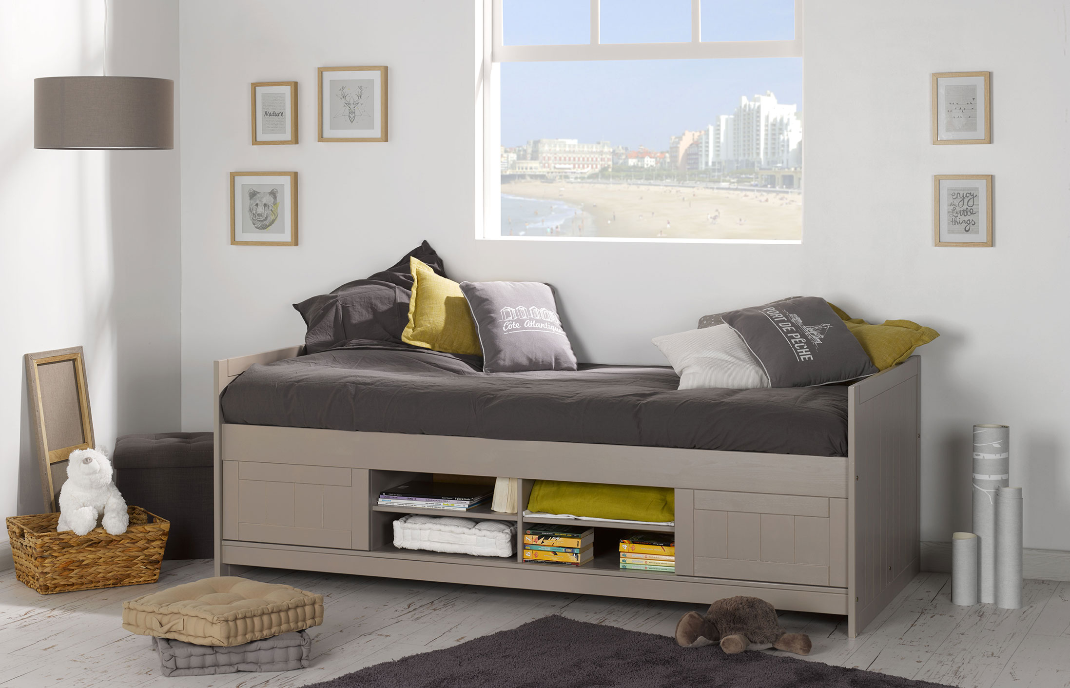 lit junior avec rangements teddy lin idkid 39 s. Black Bedroom Furniture Sets. Home Design Ideas