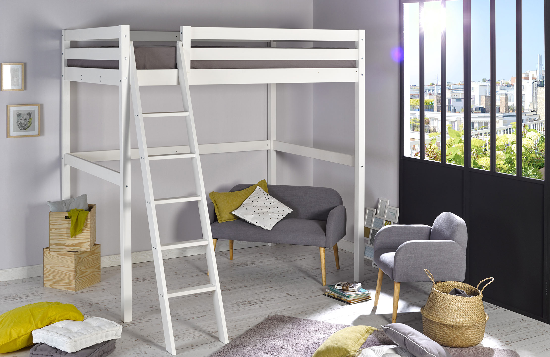 meilleur de chambre enfant lit mezzanine. Black Bedroom Furniture Sets. Home Design Ideas