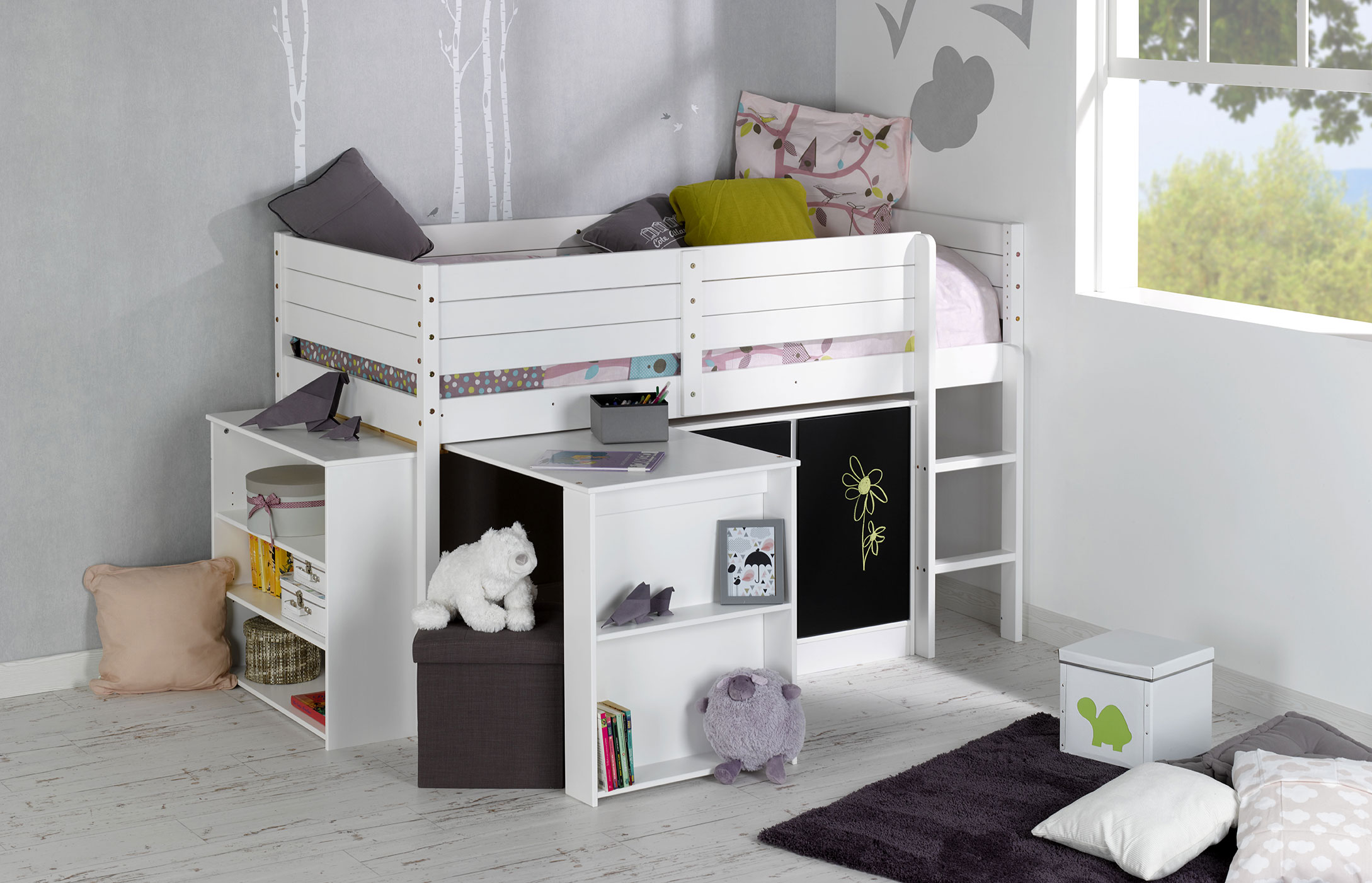 lit enfant combine bureau maison design. Black Bedroom Furniture Sets. Home Design Ideas