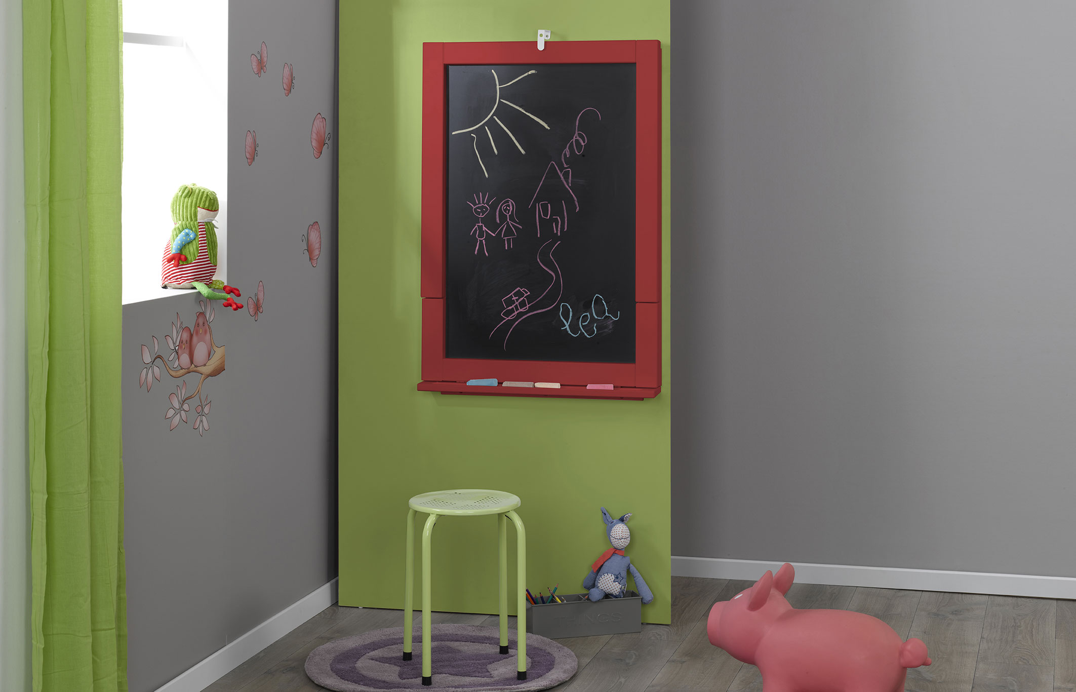 tableau bureau 2en1 enfant rouge idkid 39 s. Black Bedroom Furniture Sets. Home Design Ideas