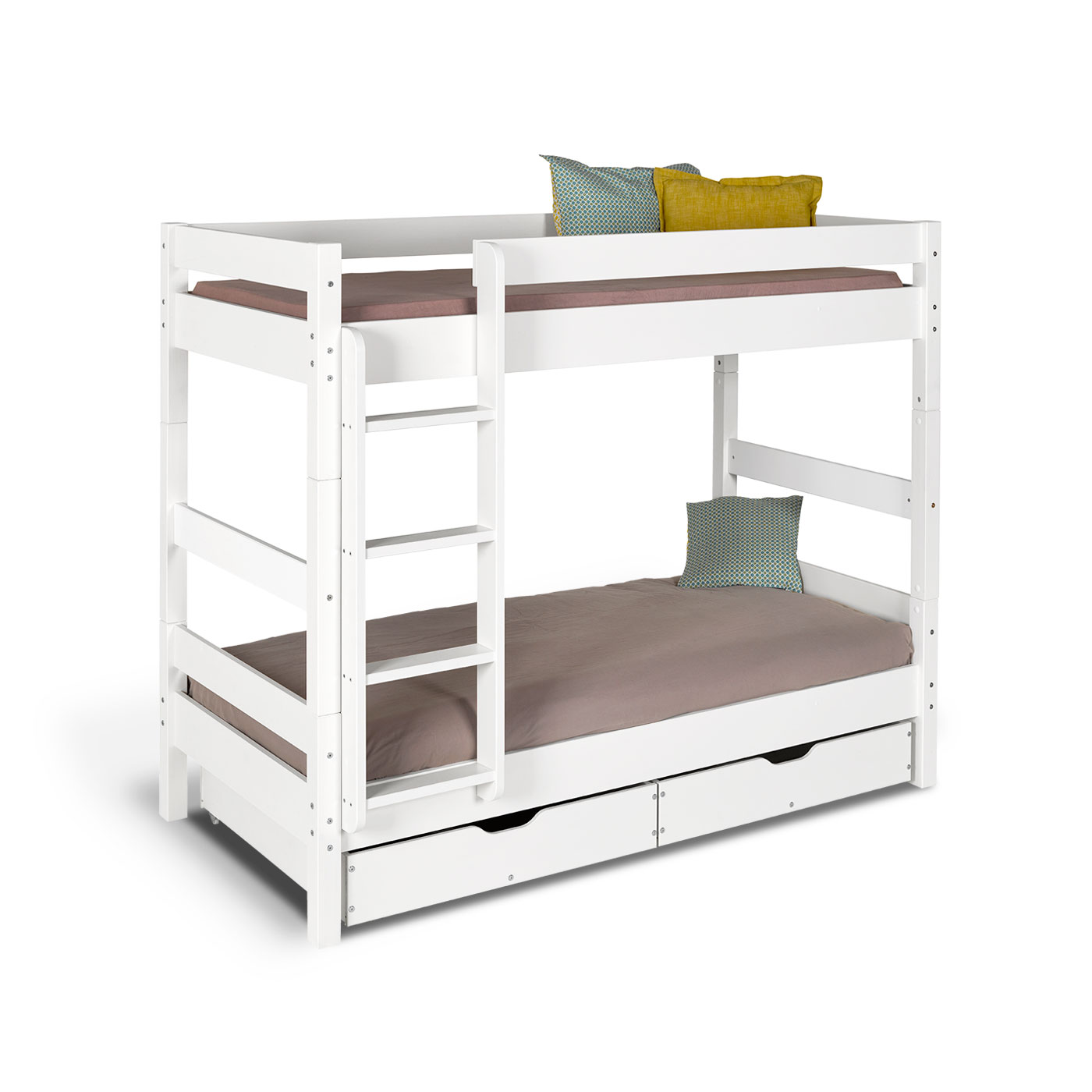 Lit superpos volutif wood blanc idkid 39 s - Lit superpose evolutif ...