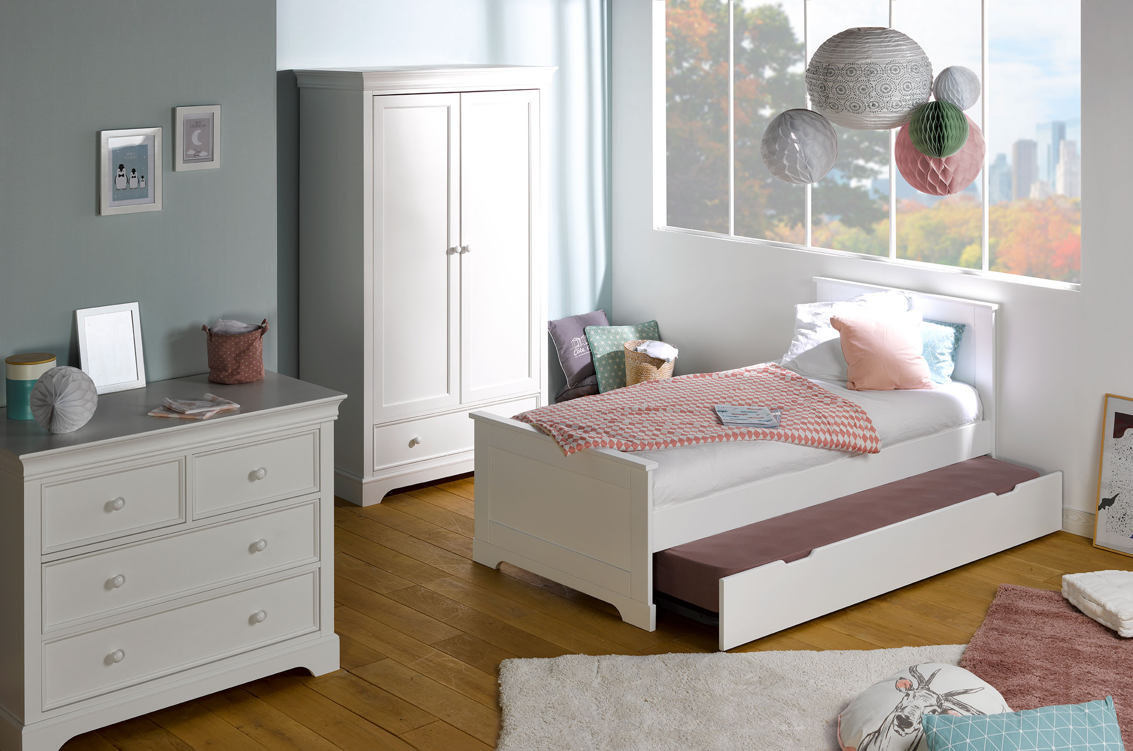 nouveau chambre enfant gain de place. Black Bedroom Furniture Sets. Home Design Ideas