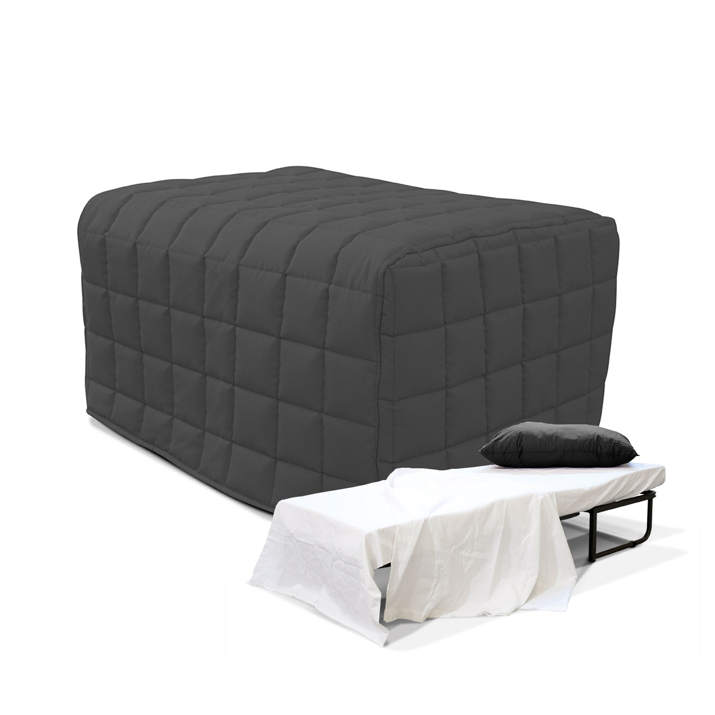 pouf lit free pouf lit en cuir al made in italy with pouf lit trendy fabulous pouf poire pas. Black Bedroom Furniture Sets. Home Design Ideas