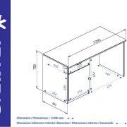 bureau-enfant-bois-wood-dimensions