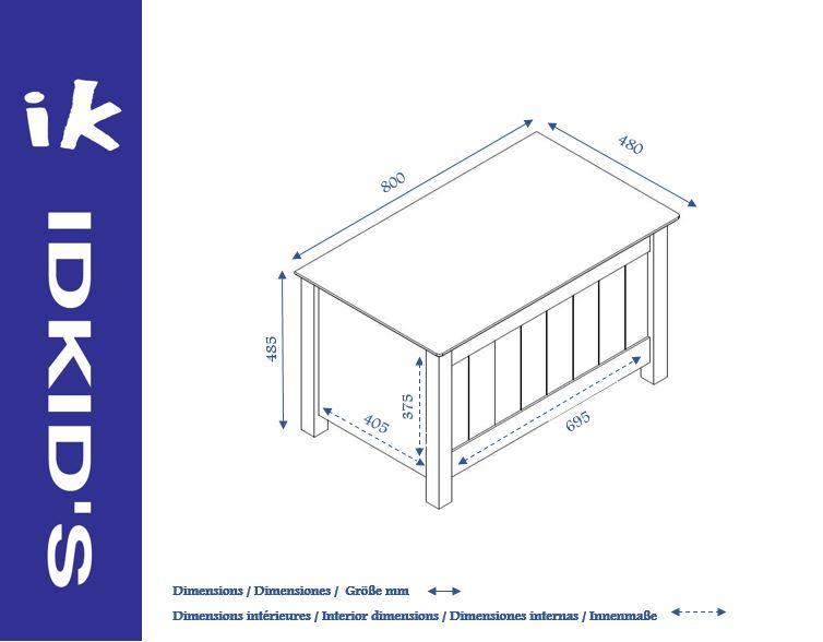 coffre de rangement enfant blanc idkid 39 s. Black Bedroom Furniture Sets. Home Design Ideas