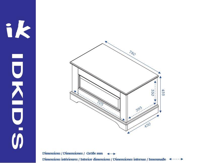 coffre jouet mel idkid 39 s. Black Bedroom Furniture Sets. Home Design Ideas