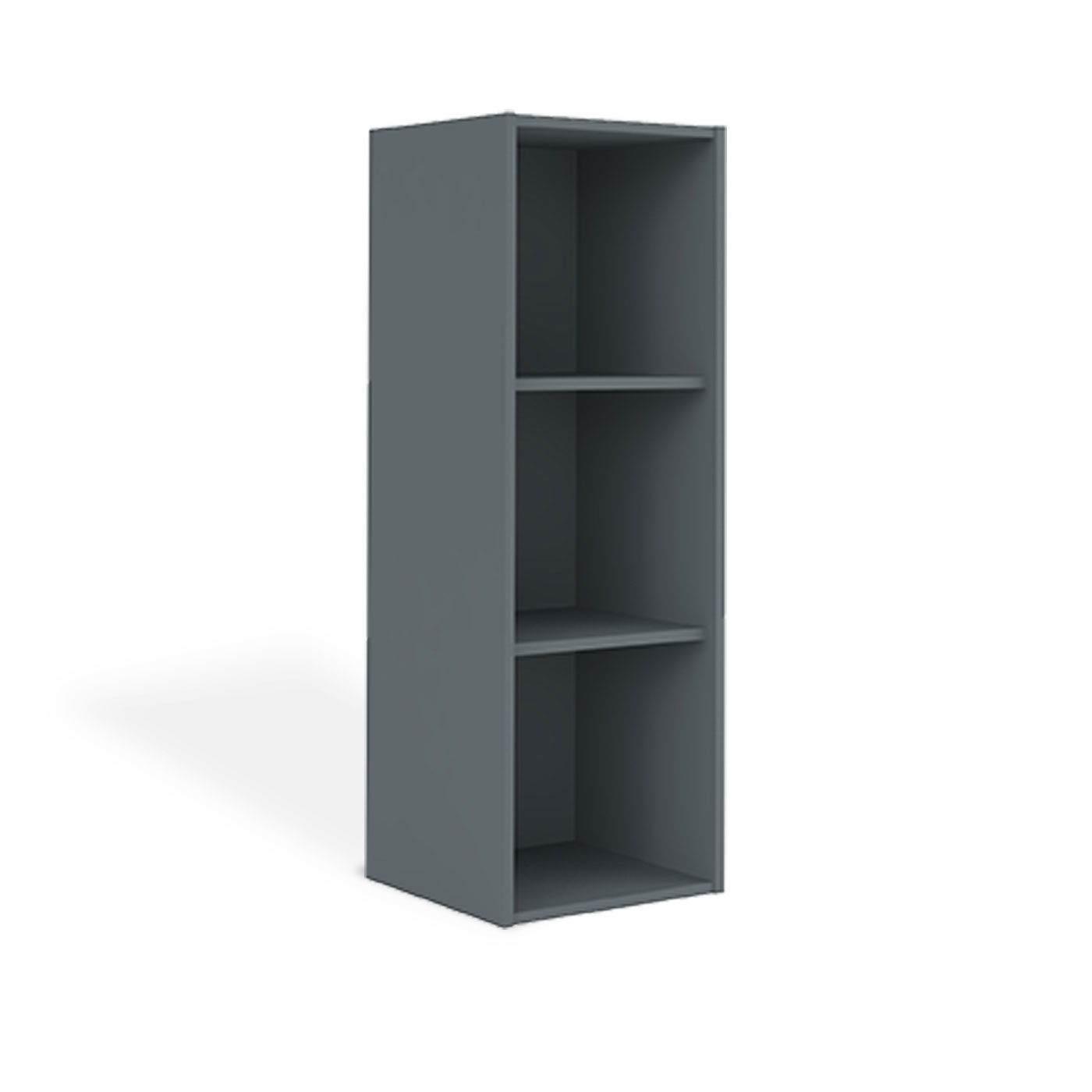 casier de rangement trois cases gris anthracite idkid 39 s. Black Bedroom Furniture Sets. Home Design Ideas