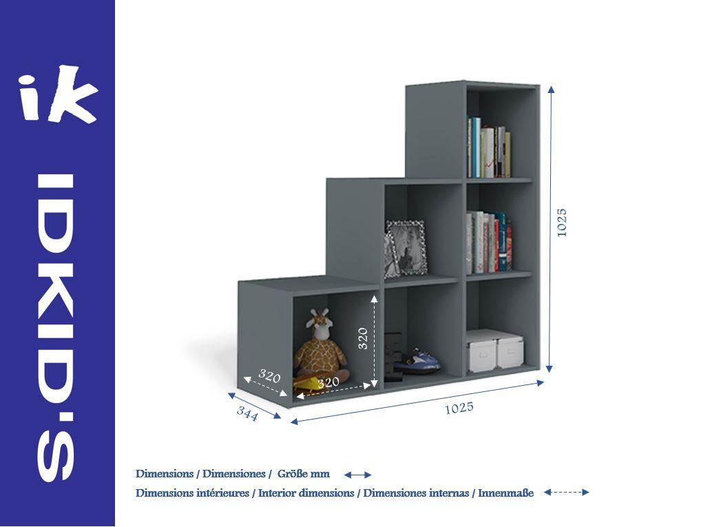 Rangement en escalier gallery of biblioth que escalier ch ne massif pi ce vivre avec meuble de - Meuble casier en escalier ...